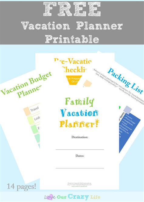 printable vacation planner 2016 family vacation planning tips free planner this crazy