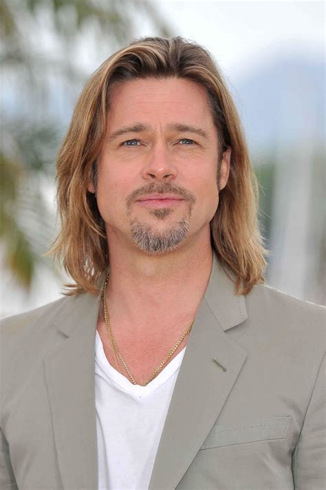 brad pitt natural hair see the 8 celebrity men with long hair you need to copy