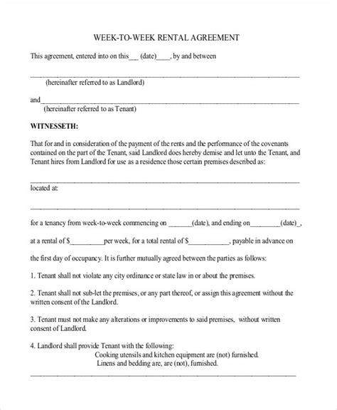 Simple Rental Agreement Form Simple Rental Agreement 34 Exles In Pdf Word Free