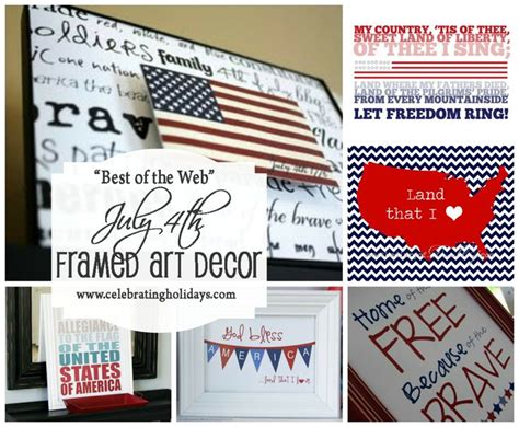 framed art diy decorating for july 4th celebrating holidays printable 4th of july decorations july 4th