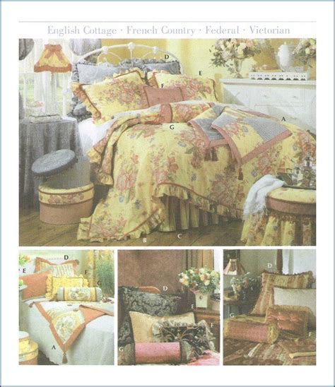 simplicity  showhouse bedding sewing pattern uncut