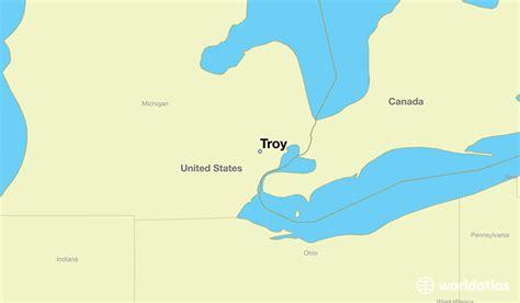 troy usa map where is troy mi troy michigan map worldatlas