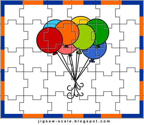 printable photo jigsaw puzzles printable jigsaw puzzle for kids balloons jigsaw