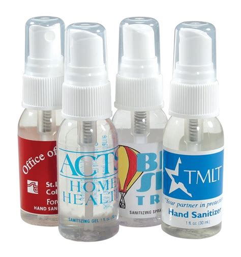 Hand Sanitizer Giveaways - 4 spray hand sanitizers for a heathy promotional caign