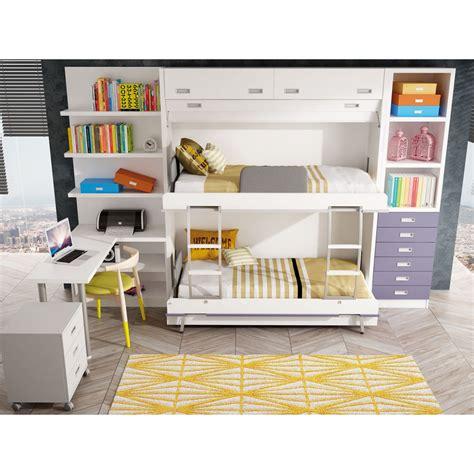 Maravillosa  Camas Nido Abatibles #6: Dormitorios-con-literas-abatibles-verticales-cuadruples.jpg