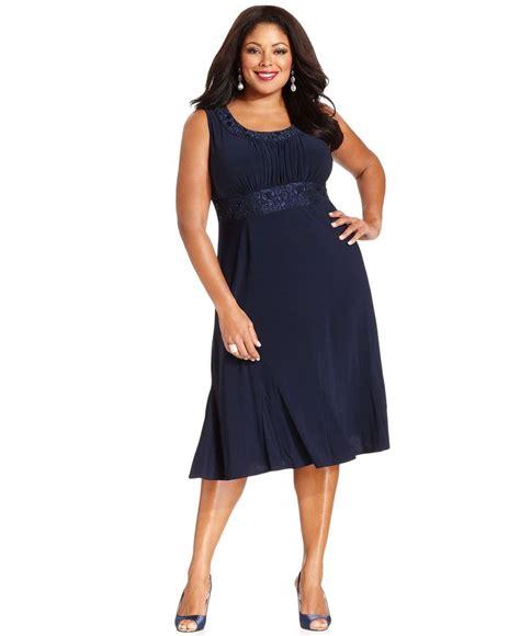 Dress Lengan Size M r m richards plus size sleeveless embroidered dress and jacket plus size dresses plus size