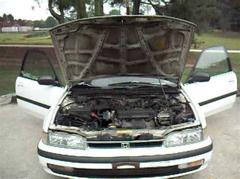 how make cars 1990 honda accord engine control engine trunk and interior walk around of 1990 honda accord parts car youtube
