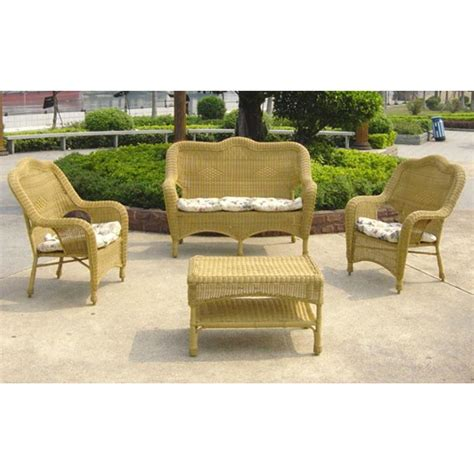 chicago wicker patio furniture chicago wicker 174 all weather wicker settee