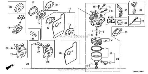 honda gvc160 carburetor diagram honda engines gcv160 n1 engine jpn vin gjae 1000001 to