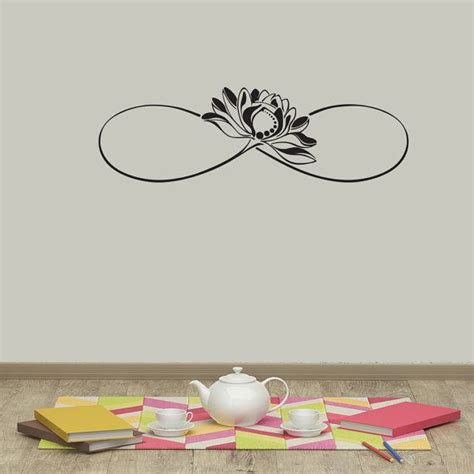 tattoo flower mural infinity sign vinyl wall decals lotus flower sticker