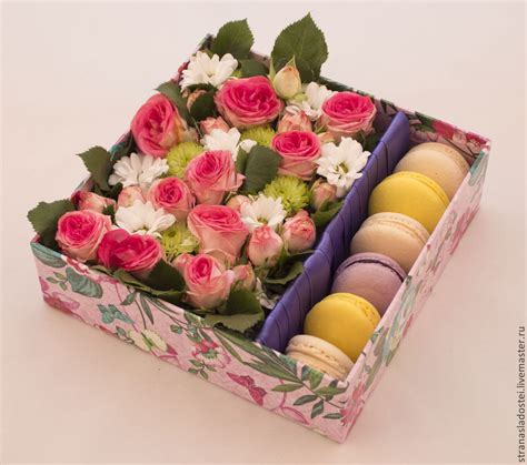 s day flowers silver box macaron flower gift box parfait co