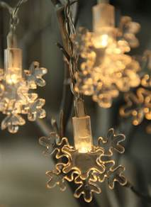 battery operated led snowflake string lights 6 5 feet