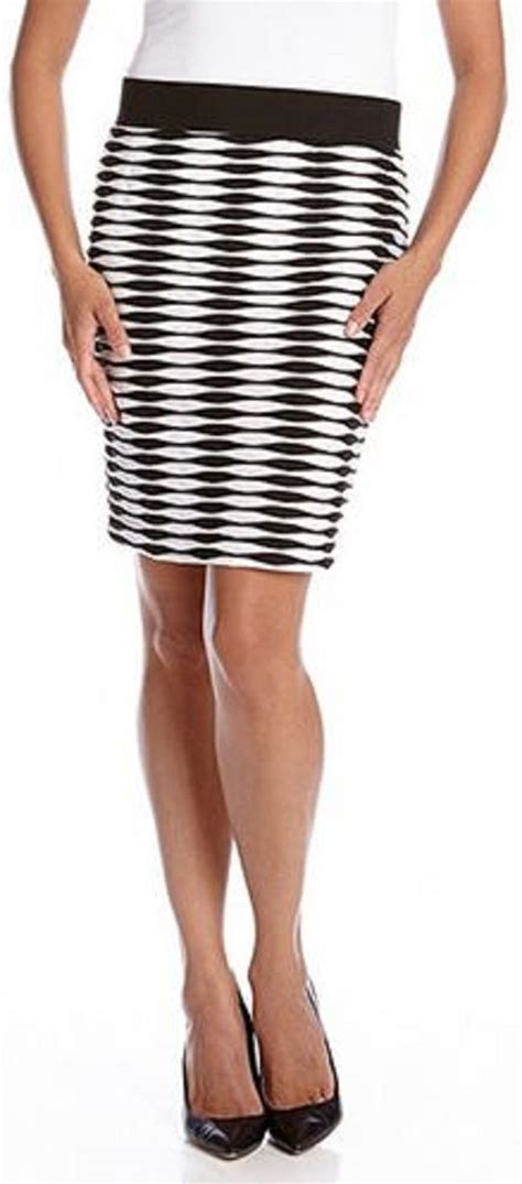 black and white pattern pencil skirt 1000 images about karen kane optical illusions on