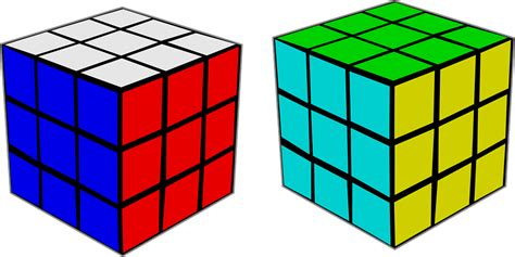 rubiks cube colors free vector graphic rubik s cube puzzle color cube