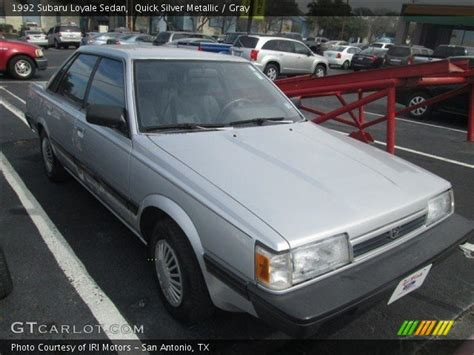 1992 subaru loyale interior quick silver metallic 1992 subaru loyale sedan gray