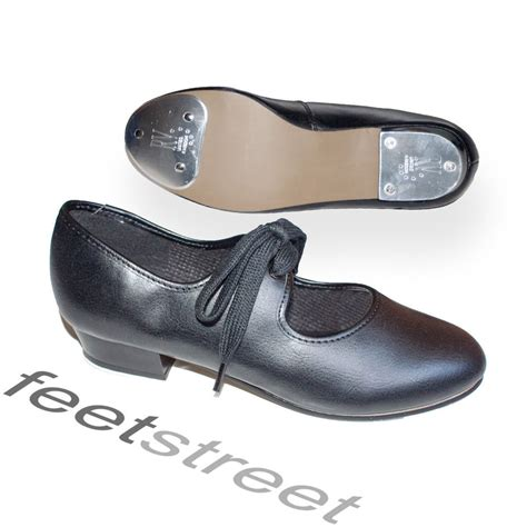 tap shoes size 9 low heel black tap shoes with toe heel taps attached