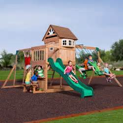 walmart backyard playsets backyard discovery montpelier cedar wooden swing set from