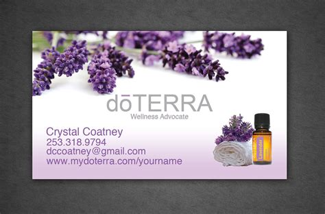 doterra business card template doterra business card color professionally by crystalcoatney