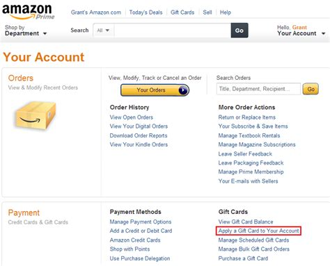 amazon my account amazon gift card purchase with paypal dominos falls