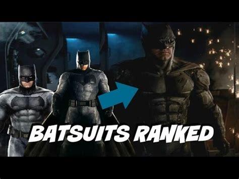 dceu batsuits ranked (ft. the new batman tactical suit