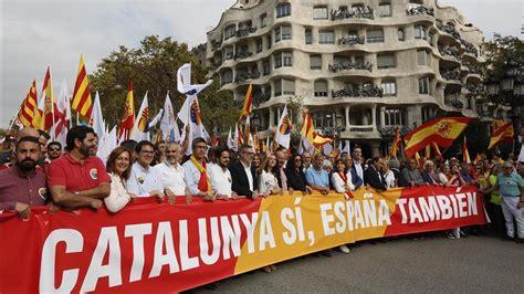 cabecera manifestacion barcelona manifestaci 243 n 12 de octubre barcelona miles contra la