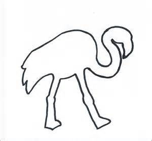 free coloring pages of flamingo face