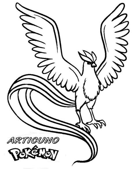 pokemon coloring pages articuno pokemon articuno coloring pages coloring page