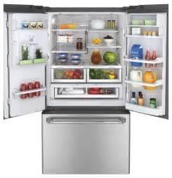 ge cafe door refrigerator ge cafe stainless door refrigerator cfe29tsdss abt