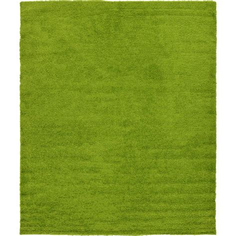 Grass Area Rug Unique Loom Solid Shag Grass Green 12 Ft X 15 Ft Area Rug 3127904 The Home Depot
