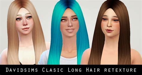 sims 4 longest hair my sims 4 blog david sims classic long hair retexture by