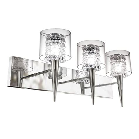 wall lighting for adding glam to home my decorative bazz glam series 3 light polished chrome wall fixture with clear glass and inserts