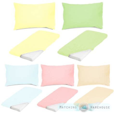 Crib Sheet Sizes by Cotton Baby Cot Size Fitted Sheet Pillowcase Set Nursery Crib Bedding