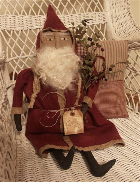 Handmade Primitives - primitive fashion santa handmade