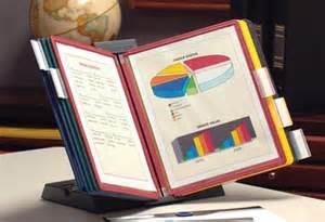 Desk Flip Chart Organizer Documate Desktop Reference Organizers Ultimate Office