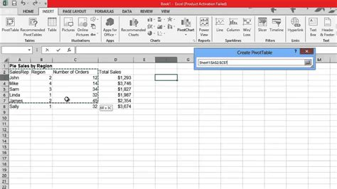 How To Use Pivot Tables In Excel 2013 by How To Create Pivot Table In Excel 2013