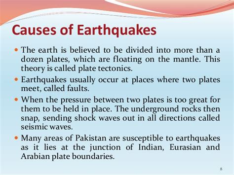 earthquake reason causes impacts management of eq and floods in pakistan