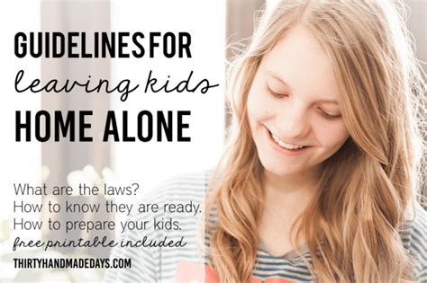 leaving home alone what age can stay home alone guidelines printable