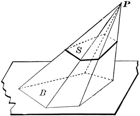 pyramid haircut pyramid cut by plane clipart etc
