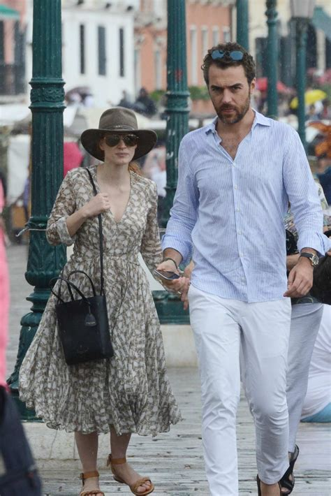 And Family Out For A Walk In Venice by Chastain And Gian Luca Passi Out For A Walk In