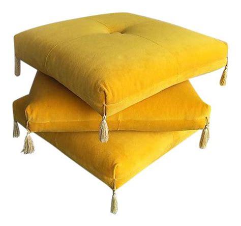 yellow ottoman best 25 yellow ottoman ideas on blue yellow