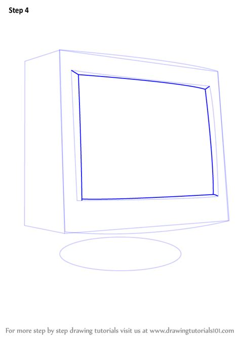 how to draw on computer learn how to draw a computer monitor computers step by