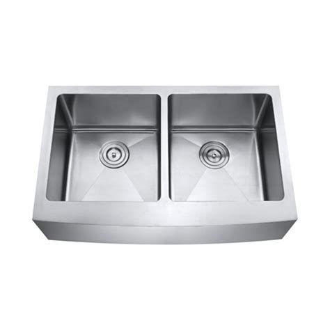 50 inch double sink 33 inch stainless steel curved front farm apron 50 50