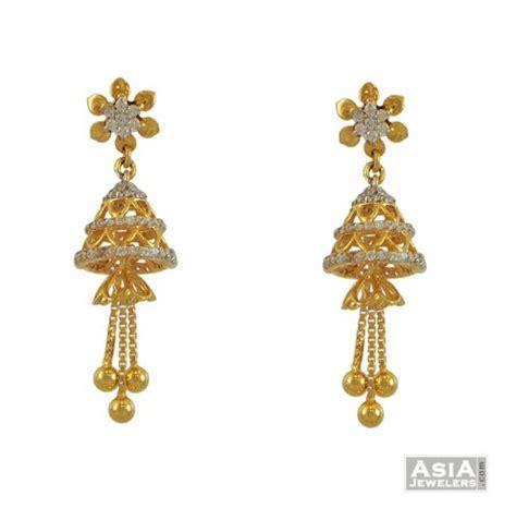 22k gold earrings designs stone earrings designs in gold 22k traditional stones