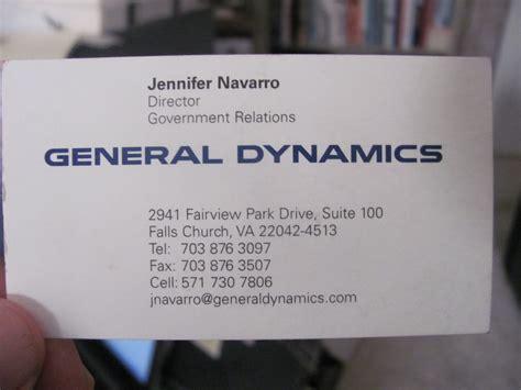 General Dynamics Business Card general dynamics business card related keywords general