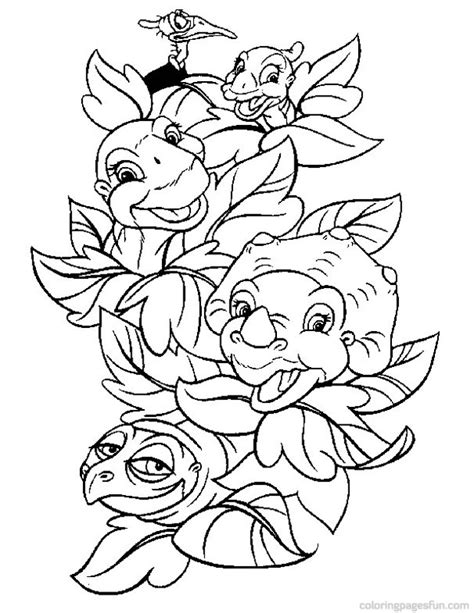dinosaur land before time az coloring pages