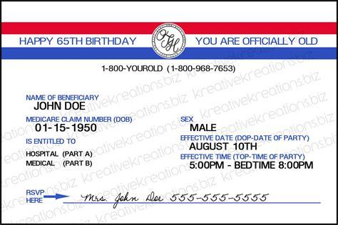 Medicare Card Template Invitation Templates Misc Pinterest Aarp Card Template