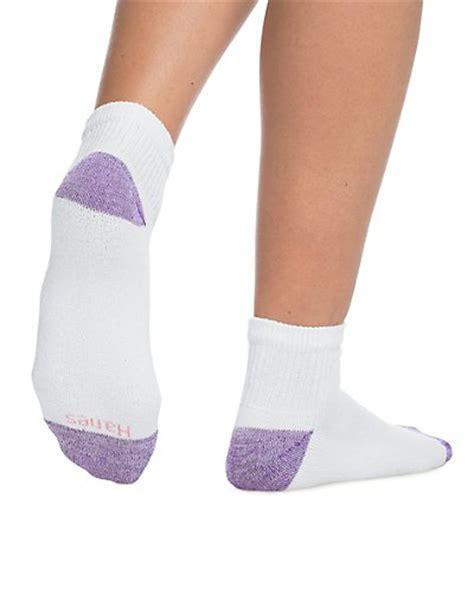 hanes s comfortblend ankle socks 6 pack shoe size 8