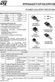 STPS2045CT datasheet - Power Schottky Rectifier