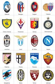 Italian League Serie B Badges soccer italy serie a crests 2012 13 infographic