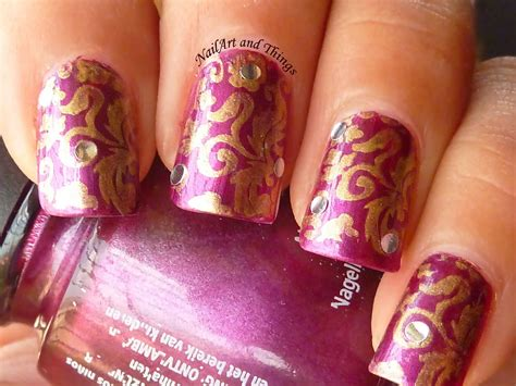 nail art tutorial in hindi nailart and things brocade nail art